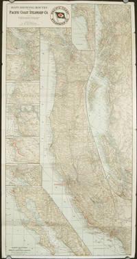 Pacific Coast Steamship Co.  California.  British Columbia.  Washington.  Alaska.  (Map title: Maps Showing Routes of the Pacific Coast Steamship Co.)