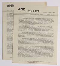 ANR report. Vol. 1 nos. 6 and 10