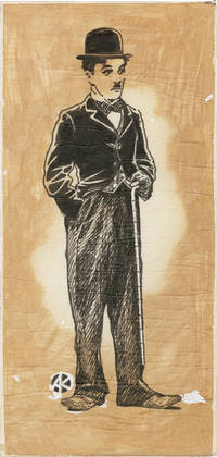 Collection of three original drawings of Charlie Chaplin onstage, circa 1940s