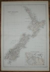 1884 Blackie's Map of New Zealand