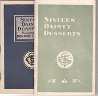 Two advertising pamphlets for Foss Pure Extracts: Sixteen Dainty Desserts flavored with Foss pure extracts