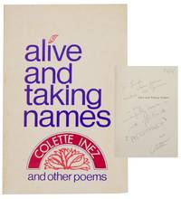 Alive and Taking Names and Other Poems (Signed First Edition)