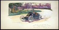 La Voiture Th. Schneider, 1912 gagne à Dieppe Dinant et à la Sarthe vitesse et régularité / Magneto Bosch Corburateur Claudel Roues Riley