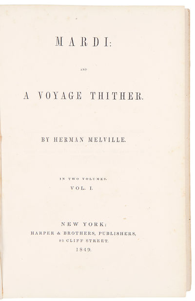 New York: Harper & Brothers, 1849. 2 volumes, 8vo. 8-page publisher's advertisement at end of vol. 2...