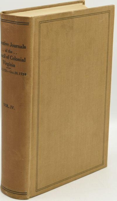 Richmond: The Virginia State Library, Division of Purchase and Printing, 1930. Hard Cover. Very Good...