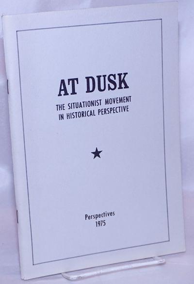 Berkeley: Perspectives, 1975. 91p., staplebound booklet, very good.