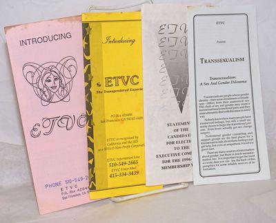 San Francisco: ETVC: Educational Transvestite Channel, 1990. Four brochures, each six-panels folded ...