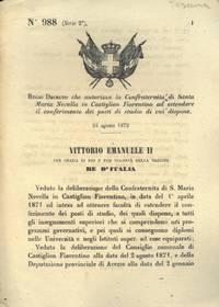 che autorizza la Confraternita di Santa Maria Novella in Castiglion Fiorentino ad estendere il conferimento dei posti di studio di cui dispone.