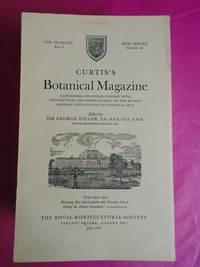 CURTIS'S BOTANICAL MAGAZINE 16 Parts. Volumes 178-181 inclusive. 1970-1977.  [Vol. CLXXVIII Part I (July 1970) to Vol. CLXXXI Part IV (October 1977)]
