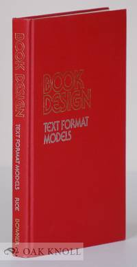 BOOK DESIGN, TEXT FORMAT MODELS