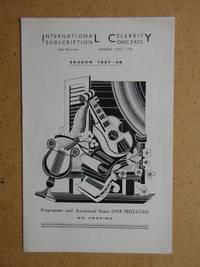 Jose Iturbi. Concert Programme.