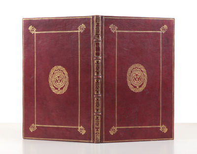 Woodcut royal arms on title. 1 p.l., 34 pp. Small folio, cont. French red morocco, panelled in gilt ...
