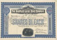 THE BARTLES LEAD AND ZINC COMPANY OF ARKANSAS