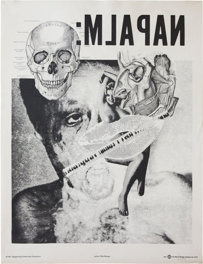 San Francisco: Happening Press, 1967. Original poster (63.5x48cm.) printed offset in black on white ...