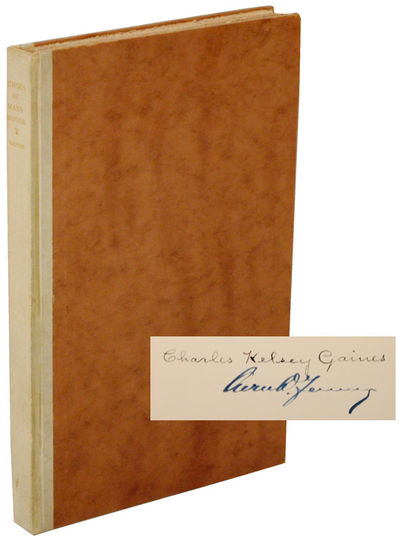 np: Privately Printed, 1926. First edition. Hardcover. Printed by William Edwin Rudge with typograph...