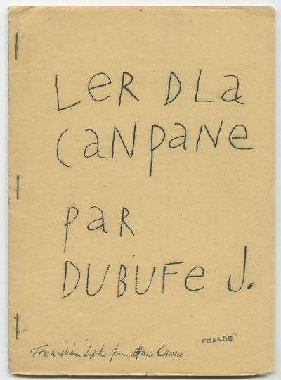 LeR DLa CaNpaNe paR DUBUFe J [fine...