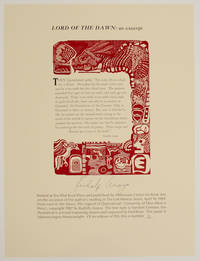 Lord of the Dawn: an excerpt (Signed Broadside)