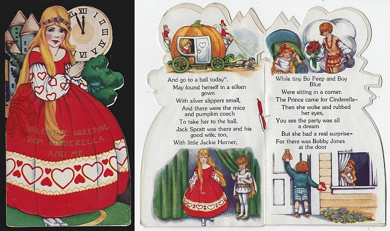 VINTAGE VALENTINE CINDERELLA STORY BOOK, Valentine