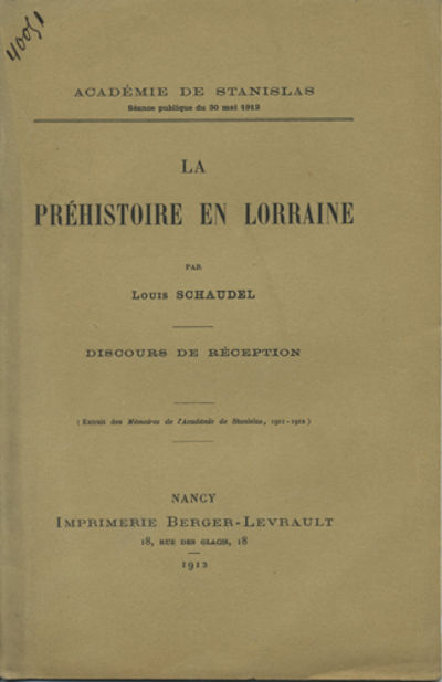 Nancy, France: Imprimerie de Berger-Levrault, 1912. Offprint. Paper wrappers. A very good clean copy...