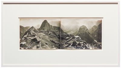 Peru, 1938. Two joined views, printed on albumen paper, measuring 47 x 17 1/3 cm (18 x 7 inches). In...