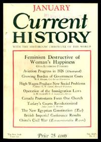CURRENT HISTORY - Volume 25, number 6 - January 1927