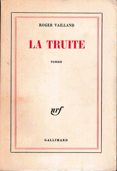 Paris: Gallimard, 1964. Paperback. Very good. 248 pp. Light creases and foxing to the spine, wear to...