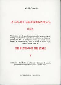 LA CAZA CARABON REIVINDICADA O SEA, CORRIMIENTO DEL VELO ... BAJO EL T�TULO DE THE HUNTING OF THE...
