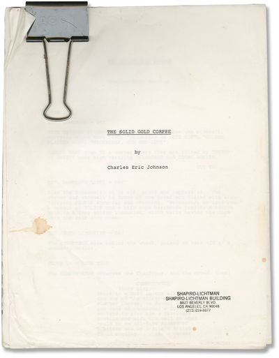 N.p.: N.p., 1970. Draft script for an unproduced film. A beloved rock star named Wednesday's Child b...