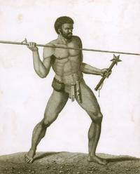 Savage of New Caledonia Throwing a Dart by  Francois [LABILLARDIERE] PIRON - 1800 - from Hordern House Rare Books (SKU: 1600211)
