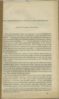 : , 1891. Offprint. Paper wrappers. A very good copy in plain paper wrappers.. pp. 8vo. From Nature,...