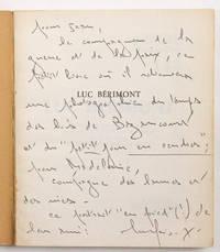 """Luc Bérimont. Présentation par Paul Chaulot, précédée d'une introduction de l'auteur. Choix de textes, bibliographie, portraits, fac-similé. [Collection """"Poètes d'aujourd'hui""""]"""