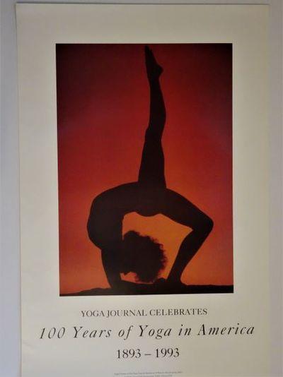 Berkeley, CA: Yoga Journal, 1993. RARE poster celebrating 100 years of yoga in America, 20 w