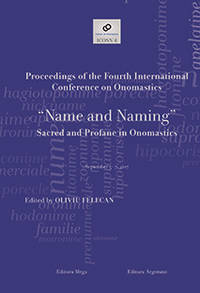 image of NAME AND NAMING - SACRED AND PROFANE IN ONOMASTICS