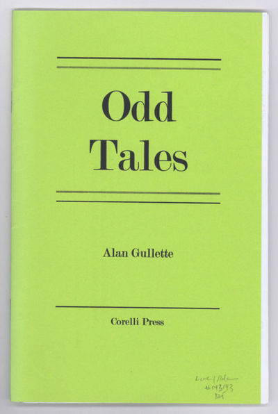 Oakland: Corelli Press, 2002. Octavo, printed wrappers, stapled. First edition. Self-published colle...