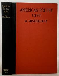 AMERICAN POETRY 1922.  A Miscellany