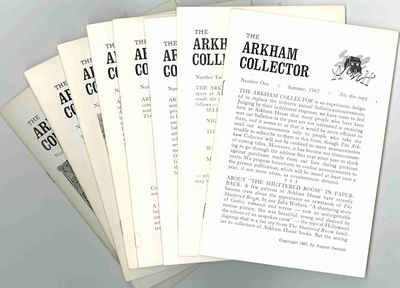 Sauk City: Arkham House, 1971. Whole numbers one through eight (of 10 published). Eight issues. Smal...