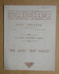 The Light That Failed By George Fleming. Theatre Programme.