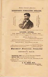 CHICAGO MEDICAL JOURNAL ADVERTISER:  Embracing Notices of Only First Class Houses in the Various Branches of Business Represented