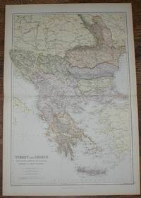 1884 Blackie's Map of Turkey, Greece, Roumania, Servia, Bulgaria, Bosnia & Montenegro