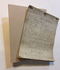 Manuscript Inventory of a late-19th century Library containing approximately 800 volumes, mainly...