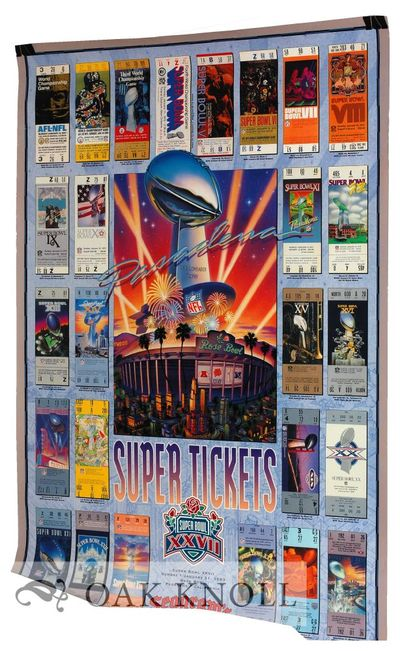 N.P.: NFL Properties, 1992. broadside, (36 x 24 inches). Poster to accompany the 1992 Super Bowl, wi...