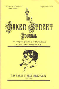 image of THE BAKER STREET JOURNAL ~ An Irregular Quarterly of Sherlockiana ~ September 1976