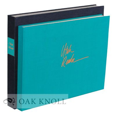 New York: Vincent FitzGerald, 1986. blue-green silk over boards, lettered in orange, by Gérard Char...