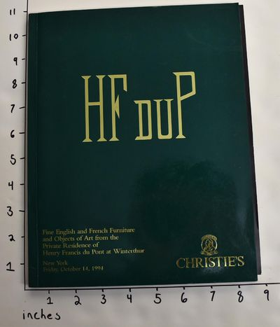 New York: Christie's, 1994. Softcover. VG. Glossy green wraps with gold lettering; 131 catalogue pp....