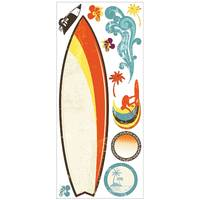 BNIP RoomMates Surfs Up Dry Erase Peel and Stick Giant Wall Decals - RMK1788GM