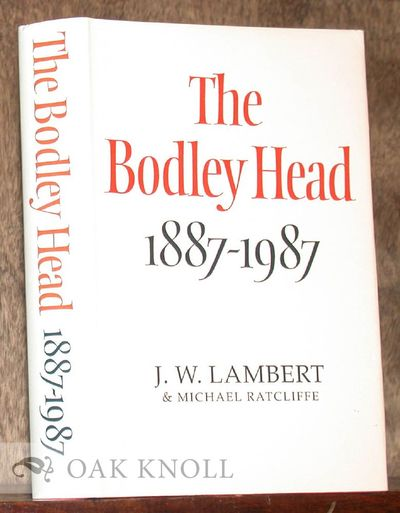 London: The Bodley Head, 1987. cloth, dust jacket. 8vo. cloth, dust jacket. viii, 365 pages. First e...