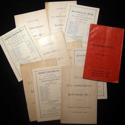New York, NY: Royal Arch Masons Ancient Chapter No. 1, 1874. Royal Arch Mason ephemera, including: A...