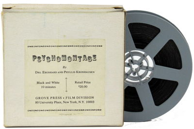 NY: Grove Press, . Original five inch reel of 8mm film in plain cardboard box with paper label affix...