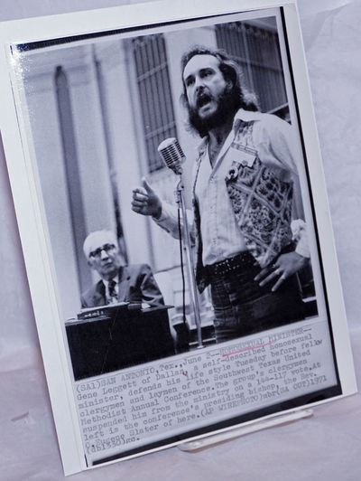 no place: AP Wirephoto, 1971. 8x11 inch glossy b&w photo with text at bottom, likely reprint, heavil...