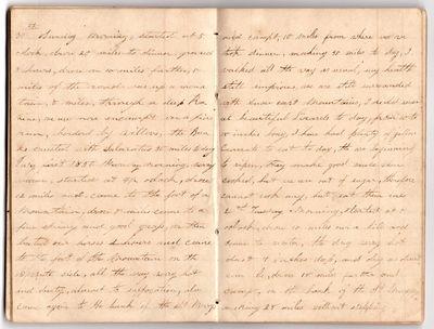 [California Gold Rush overland diary]